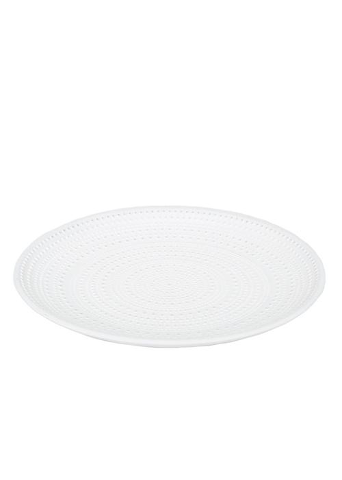 Bandeja Blanca 30 cm Lunares