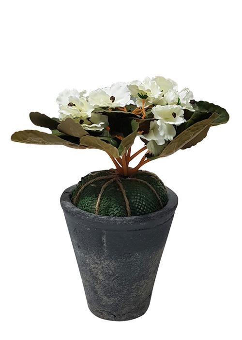 Planta Con Flores Artificiales