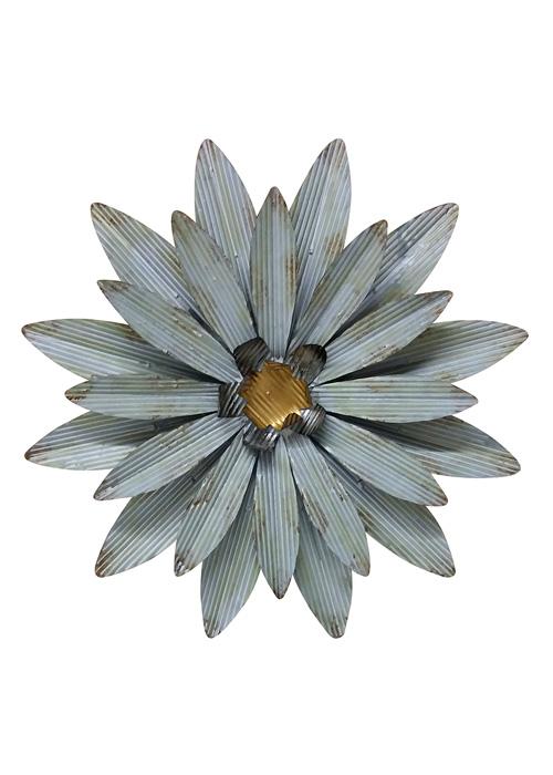 Adorno Floral Metálico Grande