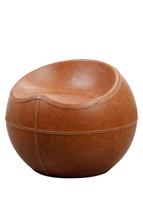 Puff Circle Leather