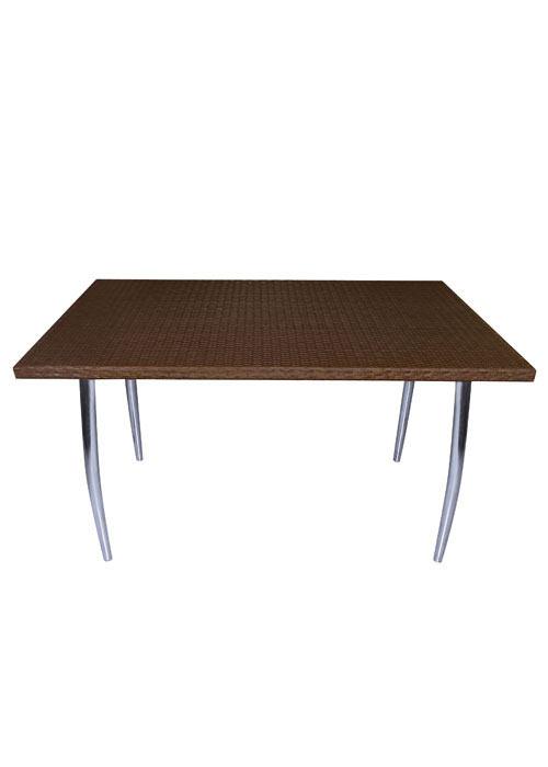 Mesa rattan napoles mesas cromadas ponete comodo - Mesas de rattan ...