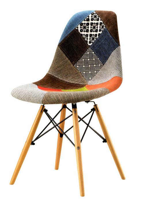 Silla eames patchwork sillas combinadas ponete comodo for Silla eames original