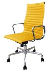 Sillón Aluminum Alto - Tapizado Amarillo