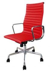 Sillón Aluminum Alto - Tapizado Rojo