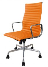 Sillón Aluminum Alto - Tapizado Naranja