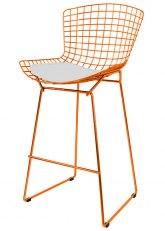 Taburete Bertoia Pintado - Tono Naranja