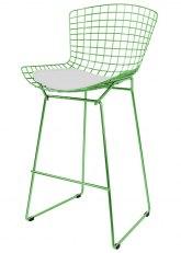 Taburete Bertoia Pintado - Tono Verde Claro