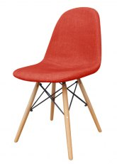 Silla Eames Tapizada - Tequila Tomate