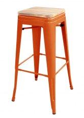 Taburete alto Tolix Madera - Tono Naranja
