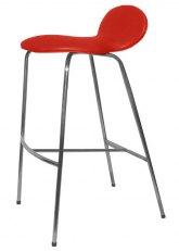 Taburete Francesca - Tapizado Rojo