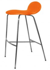Taburete Francesca - Tapizado Naranja