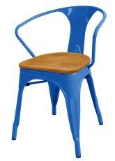 Sillon Tolix Madera - Tono Azul Claro
