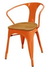 Sillon Tolix Madera - Tono Naranja