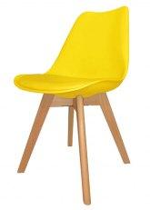 Silla Eames Cross Wood Color - Amarillo