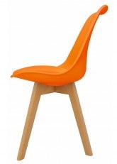 Silla Eames Cross Wood Color - Naranja