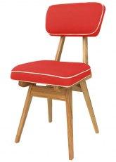 Silla American Wood - Tapizado Rojo