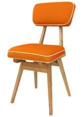 Silla American Wood - Tapizado Naranja