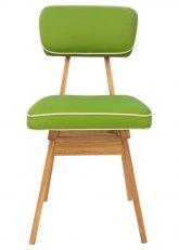 Silla American Wood - Tapizado Verde Manzana