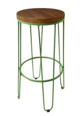 Taburete Alto Lorex Circular - Tono Verde Claro