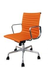 Sillón Aluminum Bajo - Tapizado Naranja