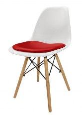 Silla Eames con Almohadon - Tapizado Rojo