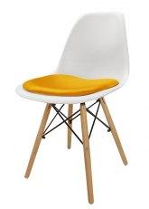 Silla Eames con Almohadon - Tapizado Amarillo