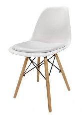 Silla Eames con Almohadon - Tapizado Blanco