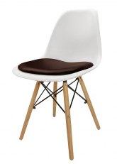 Silla Eames con Almohadon - Tapizado Chocolate
