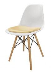 Silla Eames con Almohadon - Tapizado Marfil