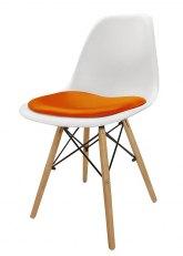 Silla Eames con Almohadon - Tapizado Naranja