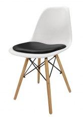 Silla Eames con Almohadon - Tapizado Negro