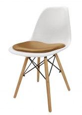 Silla Eames con Almohadon - Tapizado Tostado