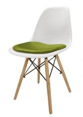 Silla Eames con Almohadon - Tapizado Verde Manzana