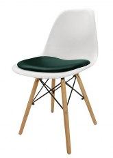 Silla Eames con Almohadon - Tapizado Verde Ingles