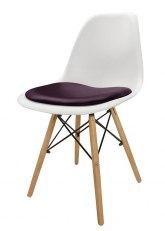 Silla Eames con Almohadon - Tapizado Violeta