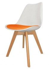 Silla Eames Cross Wood SE - Tapizado Naranja
