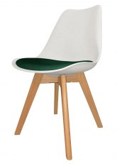 Silla Eames Cross Wood SE - Tapizado Verde Ingles