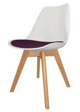 Silla Eames Cross Wood SE - Tapizado Violeta