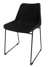 Silla Lisboa Cuero - Cuero Negro