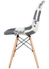 Silla Eames Patchwork White - Tela Patchwork White
