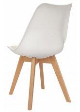 Silla Eames Cross Wood - Tapizado Blanco