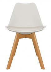 Silla Eames Cross Wood - Tapizado Blanco