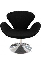 Sillón Swan Circular - Tapizado Negro
