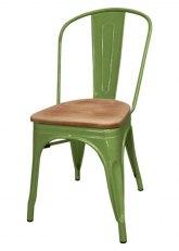 Silla Tolix Madera - Tono Verde Claro