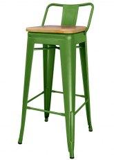 Taburete Alto Tolix RM Madera - Tono Verde Claro