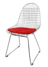Silla Eames Metálica - Tapizado Rojo