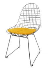 Silla Eames Metálica - Tapizado Amarillo