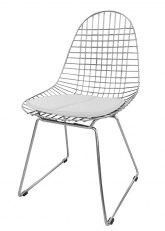 Silla Eames Metálica - Tapizado Blanco