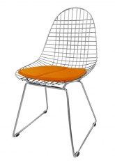 Silla Eames Metálica - Tapizado Naranja