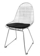 Silla Eames Metálica - Tapizado Negro